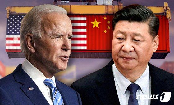 조 바이든 미국 대통령(좌)과 시진핑 중국 국가주석(우). © News1 최수아 디자이너