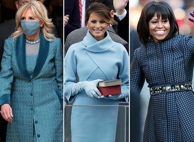 (왼쪽부터) 미국 영부인 질 바이든 여사, 멜라니아 트럼프 여사, 미셸 오바마 여사/사진=Reuters/뉴스1