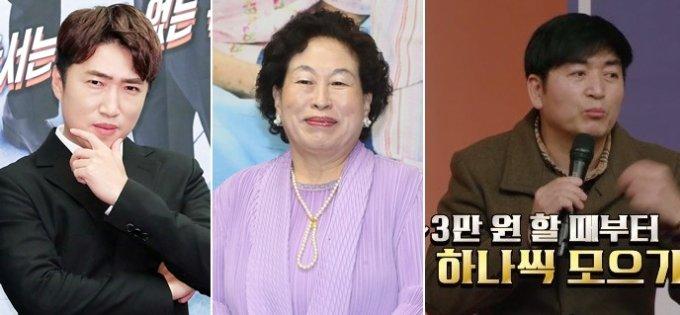 왼쪽부터 개그맨 장동민, 배우 전원주, 배우 이가돈./사진=머니투데이DB, 카카오TV '개미는 뚠뚠'