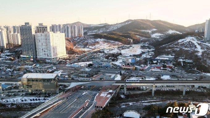 용인 역삼구역 도시개발사업지구 전경. (뉴스1 DB)© News1