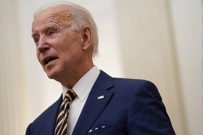 조 바이든 신임 미국 대통령이 22일(현지시간) 백악관 스테이트다이닝룸에서 발언하고 있다. /AP=뉴시스