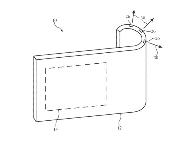 애플이 특허 출원한 구부릴 수 있는 카메라 시스템 예시 화면 /사진=폰아레나