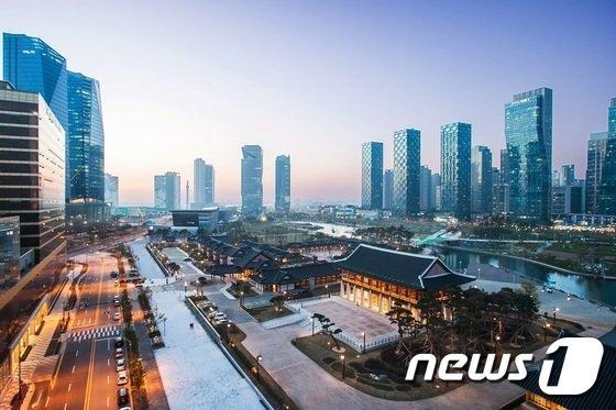 송도국제도시의 전경.(뉴스1 자료사진)© News1 강남주 기자