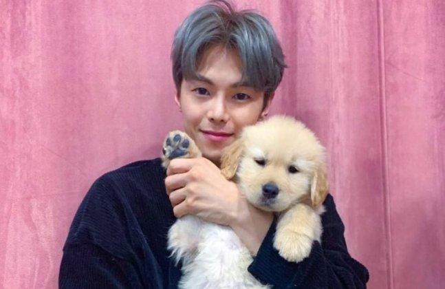 배우 박은석과 반려 강아지 '몰리'./사진=박은석 인스타그램
