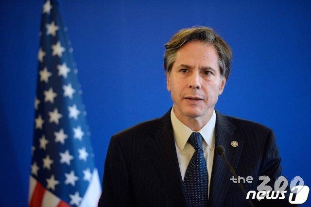 (파리 AFP=뉴스1) 우동명 기자 = 토니 블링컨 미국 국무부 장관.  ⓒ AFP=뉴스1