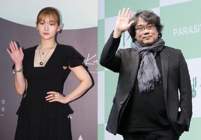 배우 박소담(왼쪽), 봉준호 감독  / 머니투데이DB