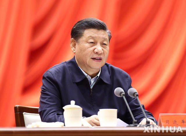 [베이징=신화/뉴시스]시진핑 중국 국가주석이 11일 베이징 중앙위원회 당교에서 열린 연구회에 참석해 개막 연설을 하고 있다. 2021.01.12.