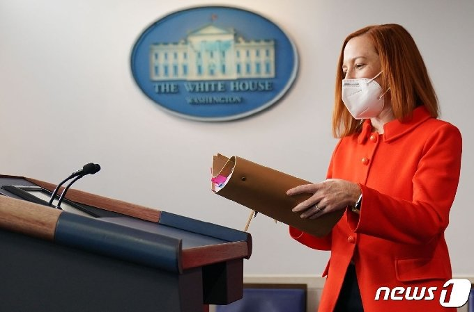 젠 사키 백악관 대변인© AFP=뉴스1