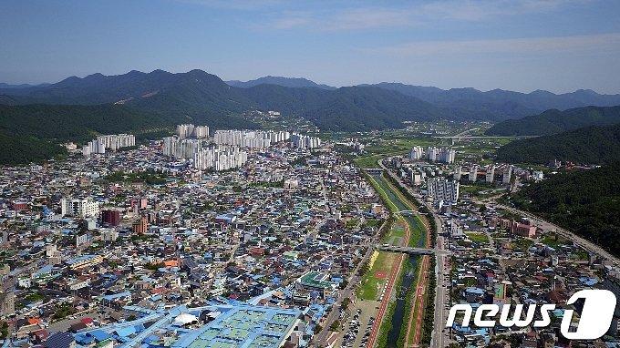 인구 10만8000여명인 전북 정읍시가지 모습 © 뉴스1