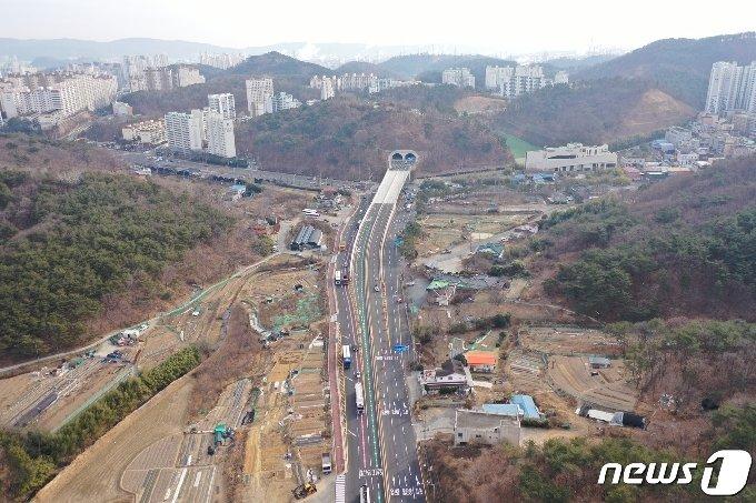 '상개~매암간 도로' 전경© 뉴스1