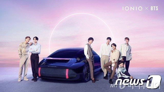(서울=뉴스1) = 현대자동차는 그룹 방탄소년단(BTS)과 함께한 현대차 전용 전기차 브랜드 '아이오닉(IONIQ)'의 브랜드 음원을 선보인다고 31일 밝혔다. 음원 이름은 'IONIQ: I'm on it(아임 온 잇)'으로 이날 오후 7시 현대차 월드와이드 사이트에서 공개된다.  방탄소년단 각 멤버들 개인의 시간과 경험을 가사로 담아 현대차가 새롭게 선보이는 아이오닉 브랜드의 무한한 가능성과 잠재력에 대한 비전을 전달한다. (현대차 제공) 2020.8.31/뉴스1
