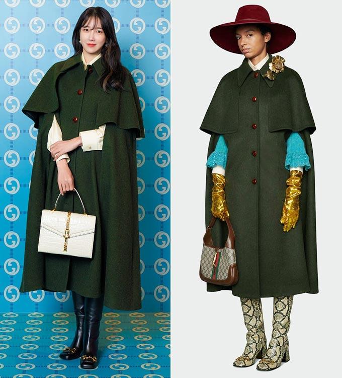 배우 이지아, 구찌 2021 프리폴 컬렉션/사진=구찌(Gucci)