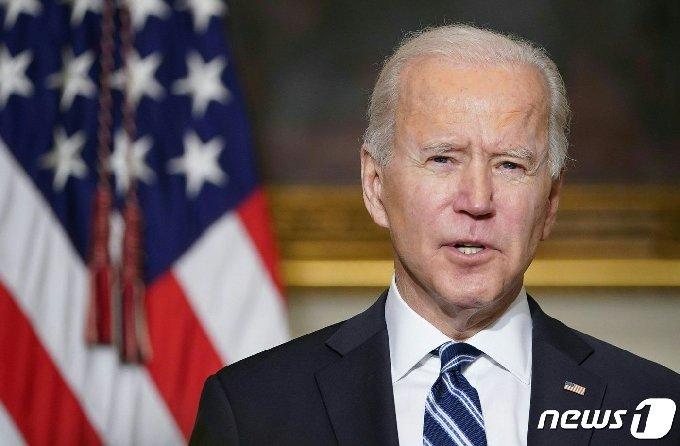 조 바이든 미국 대통령이 워싱턴 백악관에서 행정명령 서명에 앞서 기후변화 적극 대응을 밝히는 연설을 하고 있다. © AFP=뉴스1 © News1 우동명 기자