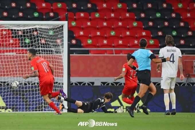 울산이 선제골을 허용하는 순간. /AFPBBNews=뉴스1