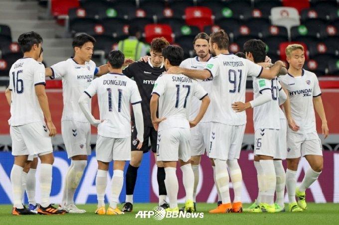 경기 전 울산 현대 선수단의 모습. /AFPBBNews=뉴스1