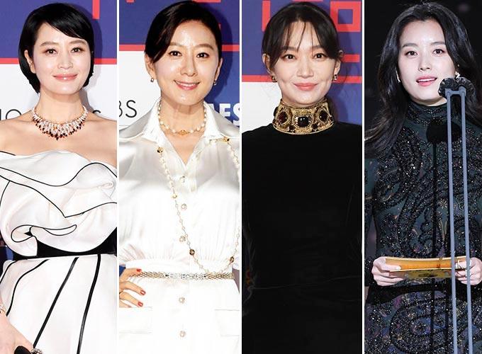 배우 김혜수, 김희애, 신민아, 한효주/사진제공=스포츠조선