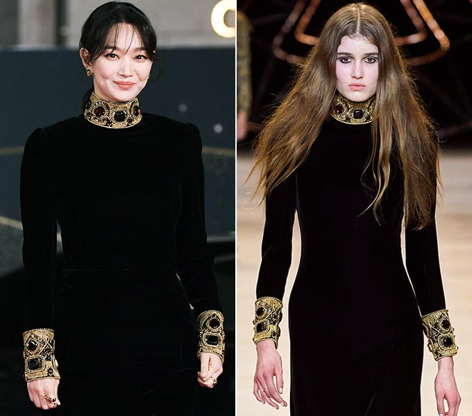 배우 신민아, 셀린느 2020 F/W 컬렉션/사진=스포츠조선 제공, 셀린느(Celine)