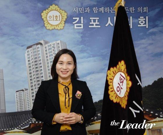▲신명순 김포시의회 의장/사진=머니투데이 더리더 송민수 기자
