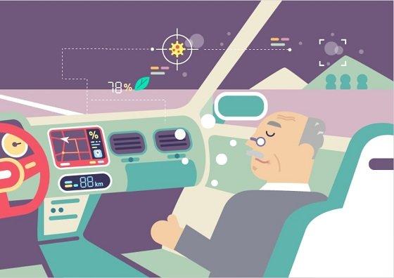 교통약자를 위한 레벨4 자율주행 자동차를 나타낸 이미지/자료=KISTEP