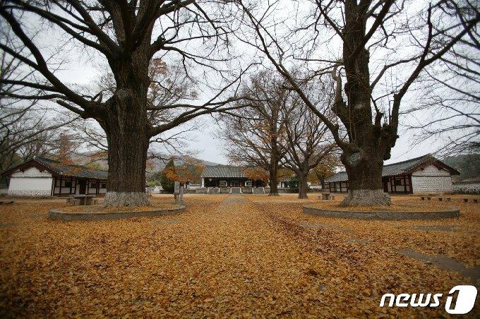 <사진3> 개성 고려성균관 중앙에 자리하고 있는 명륜당과 서재·동재 전경 (미디어한국학 제공) 2021.02.13.© 뉴스1