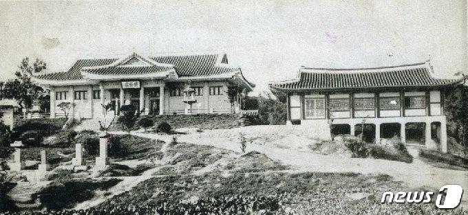 일제강점기 때인 1931년 문을 연 개성부립박물관 전경. (미디어한국학 제공) 2021.02.13.© 뉴스1