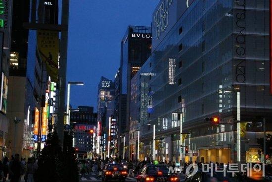 일본 도쿄 긴자 거리 모습 / 사진=정진우