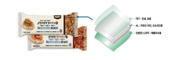 S사에서 사용 중인 연포장용 Bio-PET필름의 사용 예/사진제공=에코매스