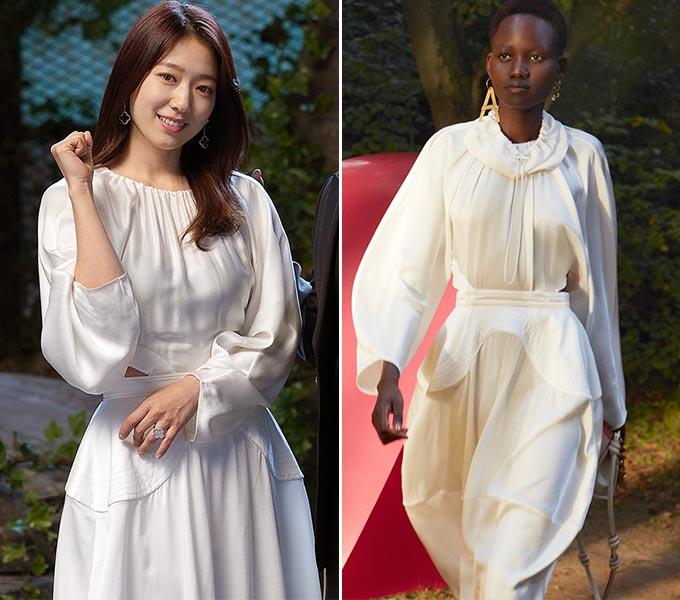 배우 박신혜, 스텔라 맥카트니 2021 S/S 컬렉션/사진=JTBC 제공, 스텔라 맥카트니