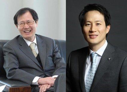 (왼쪽부터)박찬구 금호석유화학 회장과 박철완 금호석유화학 상무/사진=머니투데이DB