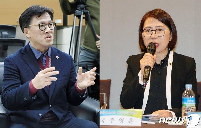 전주시장 출마를 저울질 하고 있는 이명연, 국주영은 전북도의원.(사진 왼쪽부터)/뉴스1