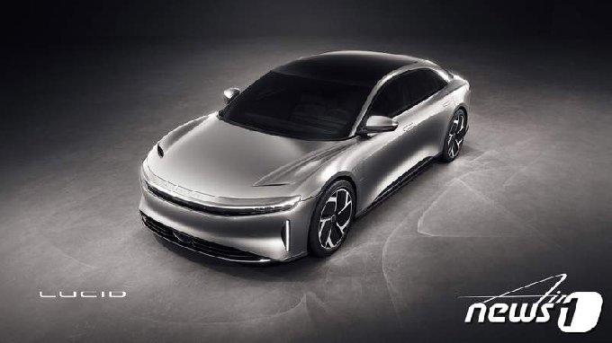 루시드의 전기차 모형도 - 회사 홈피 갈무리 © 뉴스1