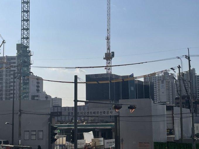 광명15구역 광명푸르지오센트베르 공사 현장 /사진=방윤영 기자