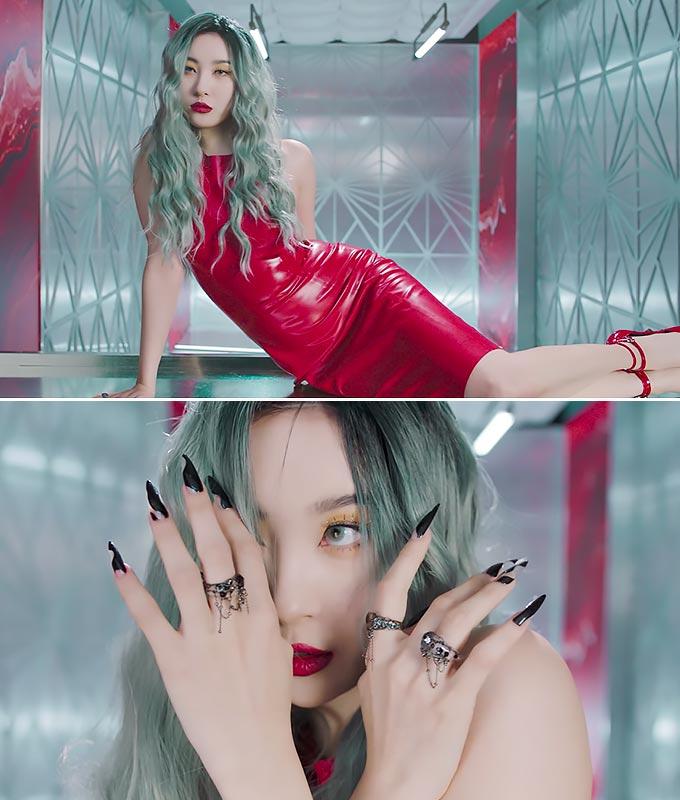 가수 선미/사진='꼬리' 뮤직비디오 캡처