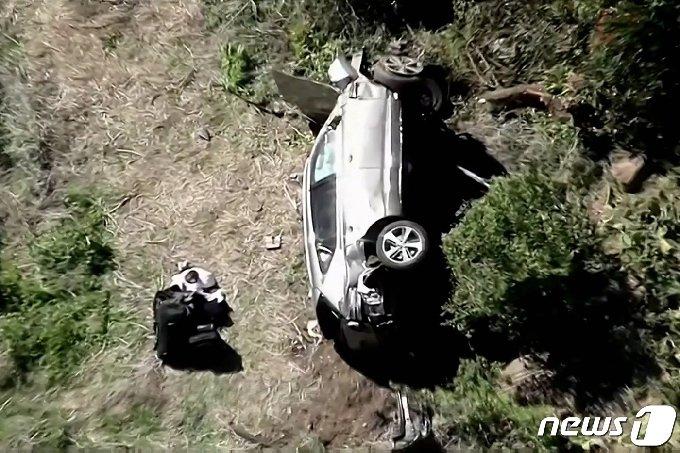 타이거 우즈 교통사고 © 로이터=뉴스1 © News1 문동주 기자