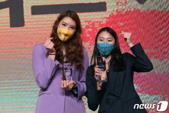[사진] WKBL, MVP와 신인왕