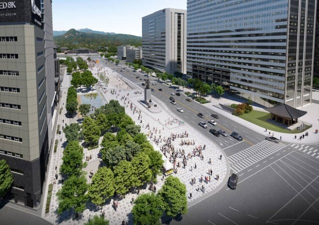 변화된 광화문 광장 조감도./사진제공=서울시
