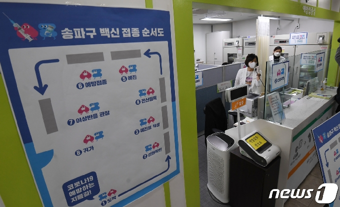 [사진] '백신 접종 순서·동선은?'