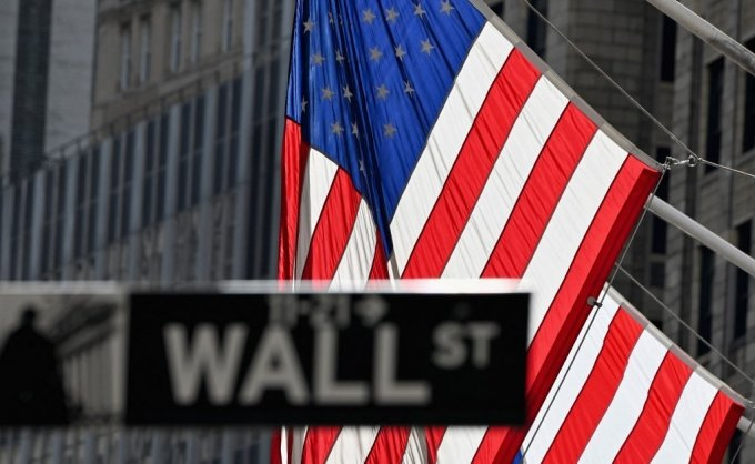 미국 뉴욕의 월가 표지판 /사진=AFP