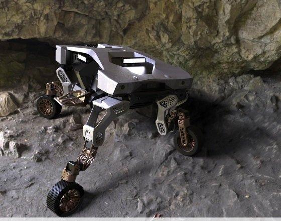 현대자동차그룹은 유튜브에 달·화성 탐사용으로도 사용할 수 있는 이동로봇 '타이거'를 최초로 공개했다/사진=현대차