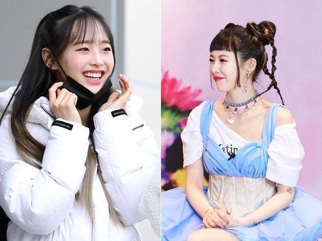 그룹 이달의소녀 츄(왼쪽), 가수 현아 /사진=머니투데이DB