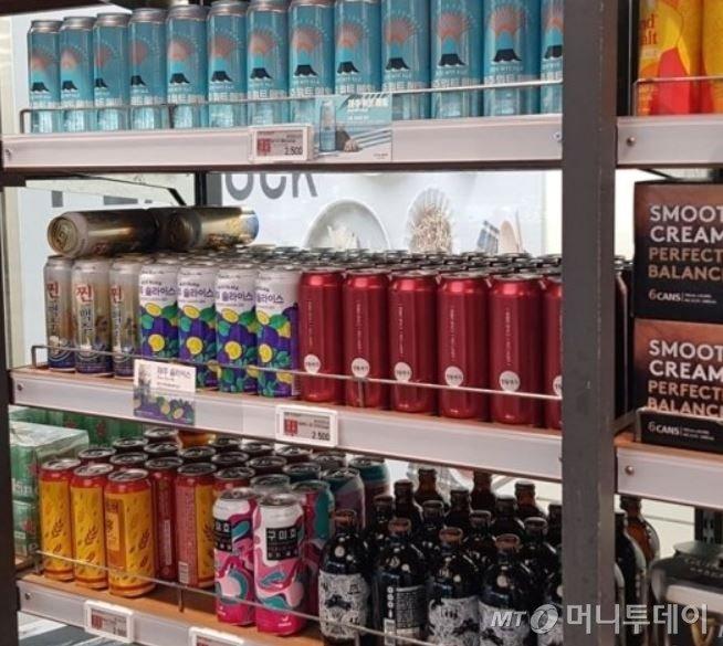 대형마트에 진열된 수제맥주 모습/사진= 박미주 기자