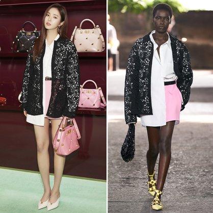 """신세경 vs 모델, 루즈한 셔츠에 핑크 쇼츠…""""어디 거?"""""""