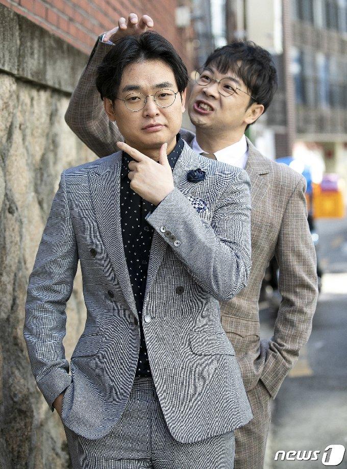 개그맨 박영진과 권재관(오른쪽) © News1 김진환 기자