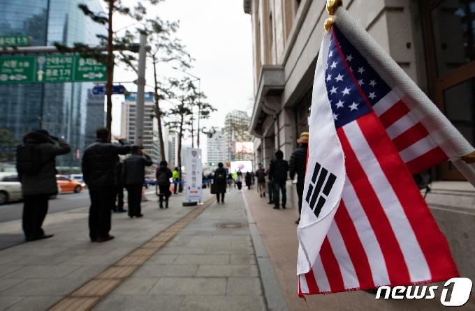 [사진] 보수단체 '3·1절 기념 전야제'