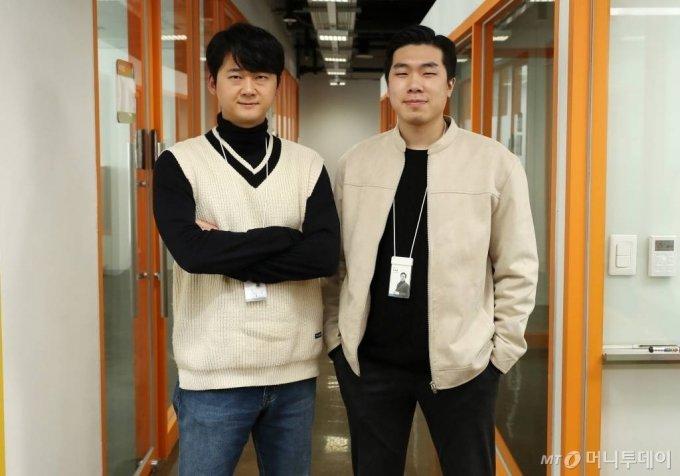 심건우(왼쪽), 이태훈 드리머리 공동대표 인터뷰 /사진=김휘선 기자 hwijpg@