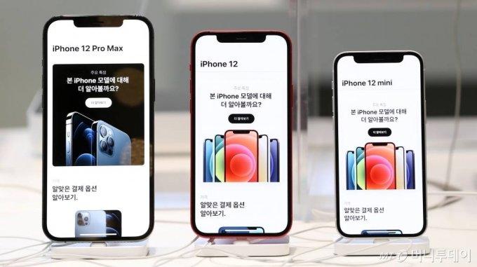 애플 아이폰12 시리즈. / 사진=김휘선 기자 hwijpg@