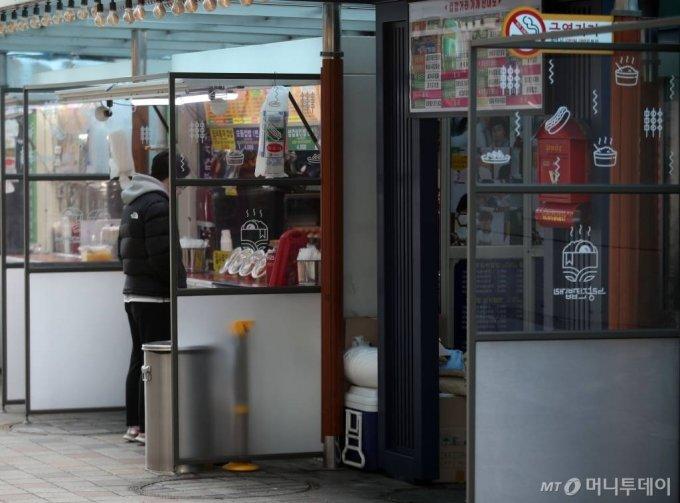2일 오후 서울 동작구 노량진 컵밥거리의 모습. /사진=뉴시스