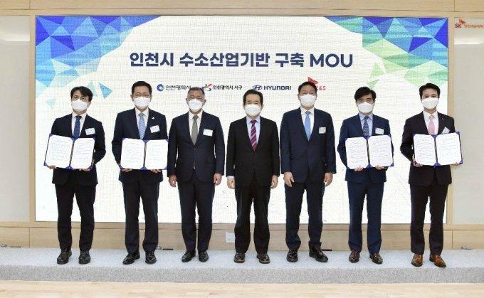 정의선·최태원 '의기투합', 한국판 '수소위원회' 만든다