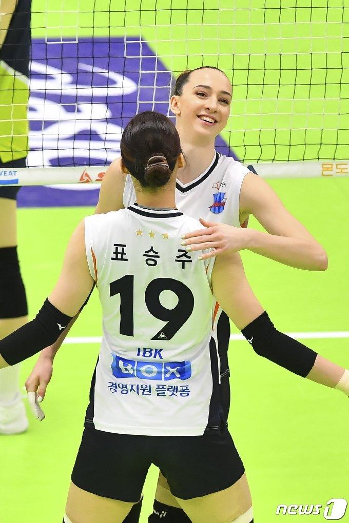 IBK기업은행 안나 라자레바. (한국배구연맹 제공) © 뉴스1