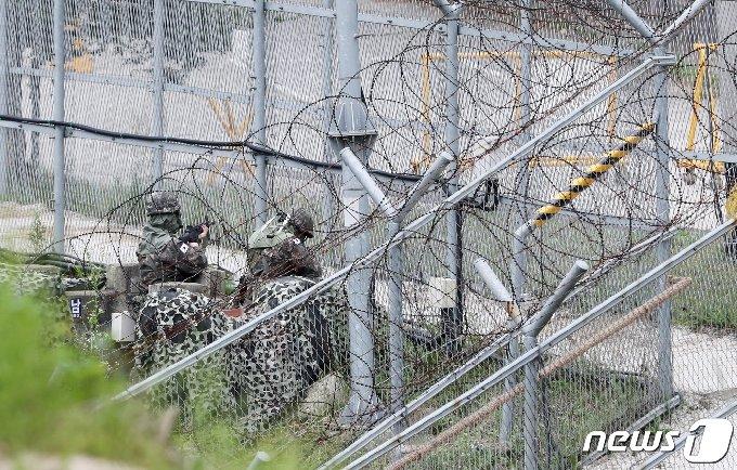 군부대  병사 훈련. (자료사진)뉴스1 © News1 DB